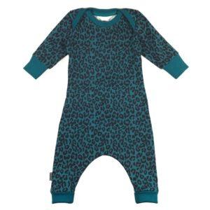 Baby Jumpsuit Leopard Petrol