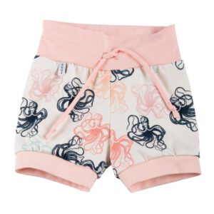 Drawstring Shorts Octopus Peach