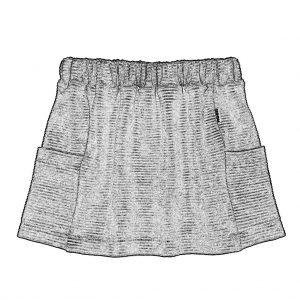 Pocket Skirt Ribbed