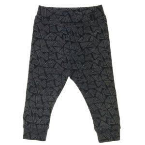 Zwarte legging met witte driehoekjes
