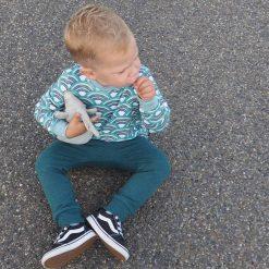 Jongenskleding Handgemaakt Regenbogen Petrol Blauw Biologisch