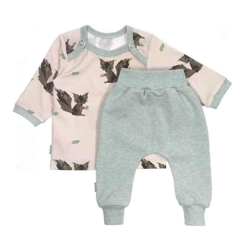 Babyset Eekhoorntjes Zand/Mint gemêleerd