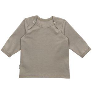 Shirt met drukknoopjes Taupe