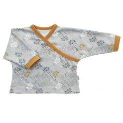 Overslag Shirt Lichtgrijs met Fluitenkruid