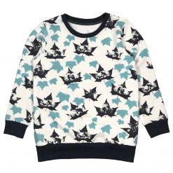 Trui Sweater Bladeren Blauw Herfst