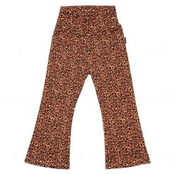 Flared legging Panterprint Koraal