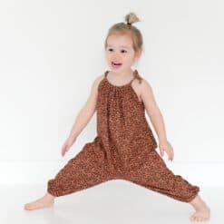 Meisjes jumpsuit panterprint