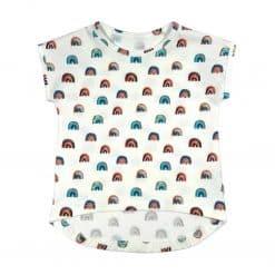 Meisjes shirt top regenboog