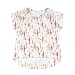 Meisjesshirt zomer veldbloemen
