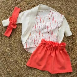 Setje meisjeskleding zomer handgemaakt