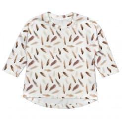 Shirt veertjes longsleeve Handmade