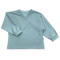 Zeeblauw Overslagtop Kinderkleding handgemaakt