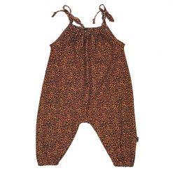 zomer jumpsuit panterprint strikjes