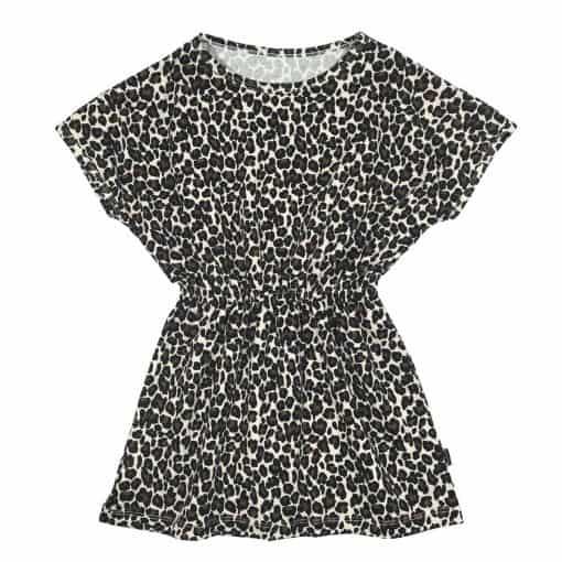 Jurkje panterprint bruin Meisjeskleding zomer