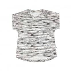 Shirt jongensshirt taupe strepen zomer