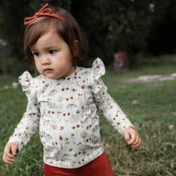 Roezelshirt Droogbloemen Handgemaakt Ruffles Meisjesshirt