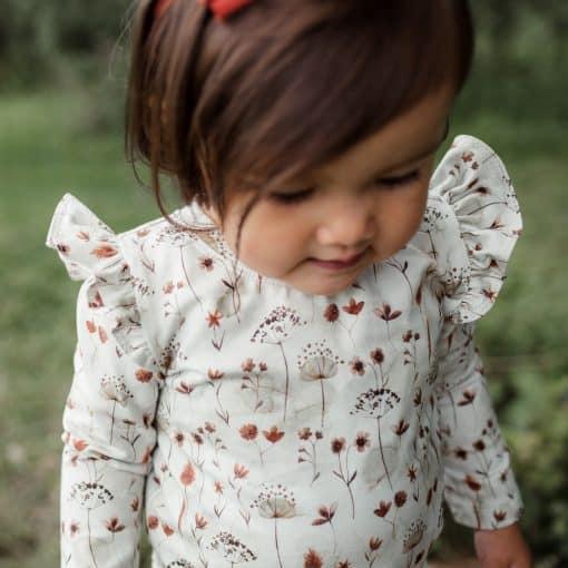 Roezelshirt Droogbloemen Handmade Meisjeskleding