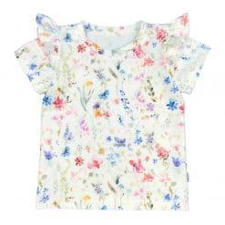 Shirtje roezels bloemetjes kleurig