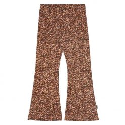 Flared Legging Steenrood Panter Leopard