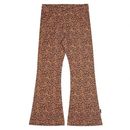 Flared Legging Steenrood Panter Leopard