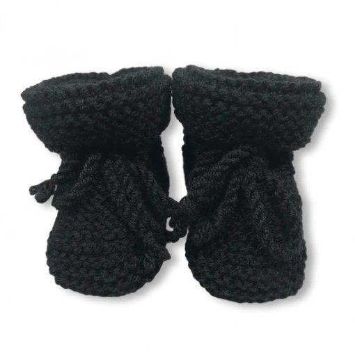 Gebreide Slofjes Zwart Breiwerk Handgemaakt
