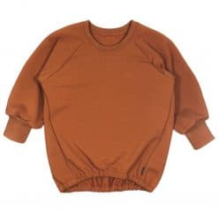 Oversized Sweater Cognac Handmade