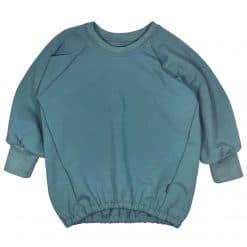 Oversized Sweater Zeeblauw Handgemaakt