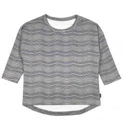 Shirt Golven Longsleeve Biologisch Grijs