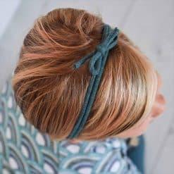 Strikbandje Petrol Haarbandje Handgemaakt