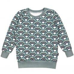 Sweater Biologisch Aquarel Watercolors Regenbogen Blauw Groen