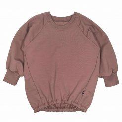 Sweater Mauve Elastiek Oversized Handgemaakt Handmade
