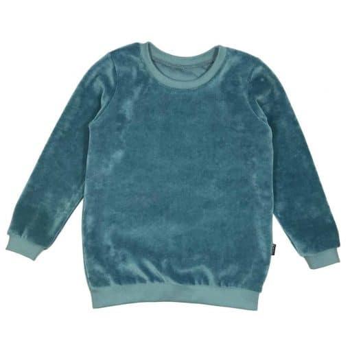 Sweater Trui Zeeblauw Velours Zacht