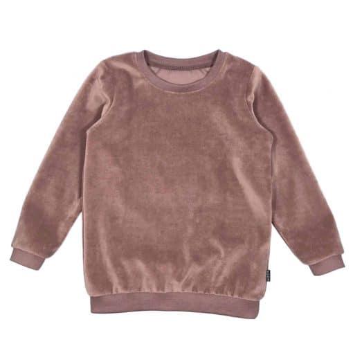 Velours Sweater Mauve Zacht Handgemaakt