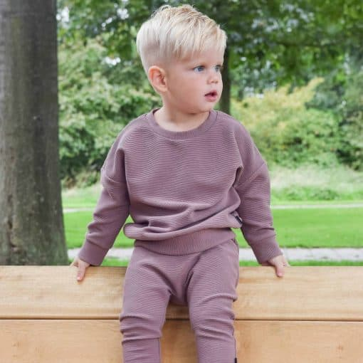 Ribsweater Ribbroek Joggingpak Jongenskleding Handgemaakt