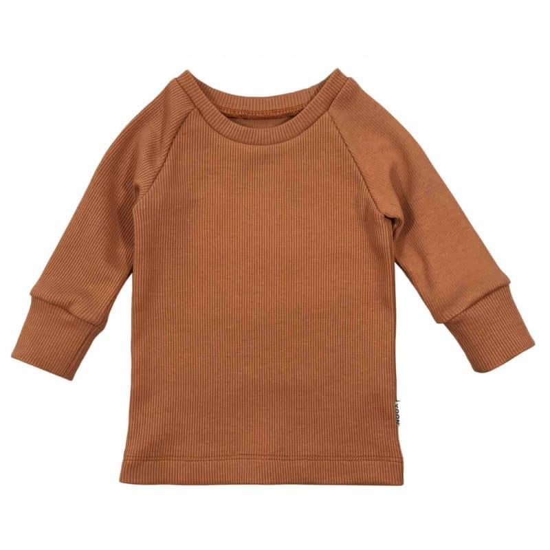 Pecan Bruin Ribshirtje Babyshirt