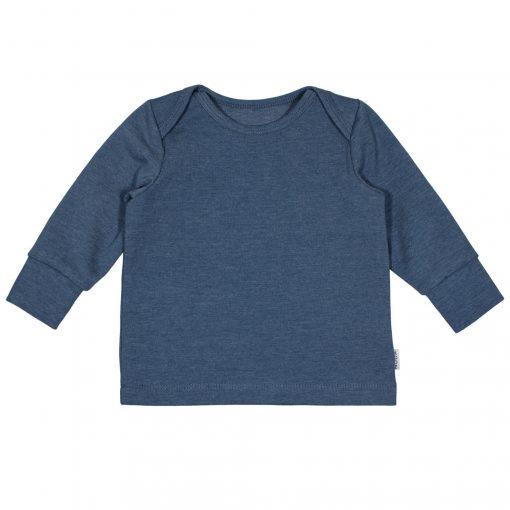 Babyshirtje Blauw Handgemaakt Enveloppehals Overslaghals