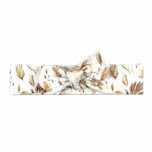 Haarband Natuurprint Bloemen Knoophaarband