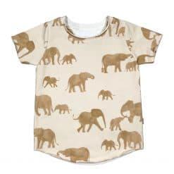 Jongenskleding T-Shirt Olifanten Oker Geel Handgemaakt