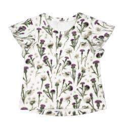 Meisjesshirt Shirtje Handgemaakt Natuurprint Distels