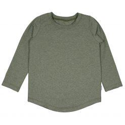 Shirt Longsleeve Jongensshirt Raw Edge olijf Groen Handgemaakt