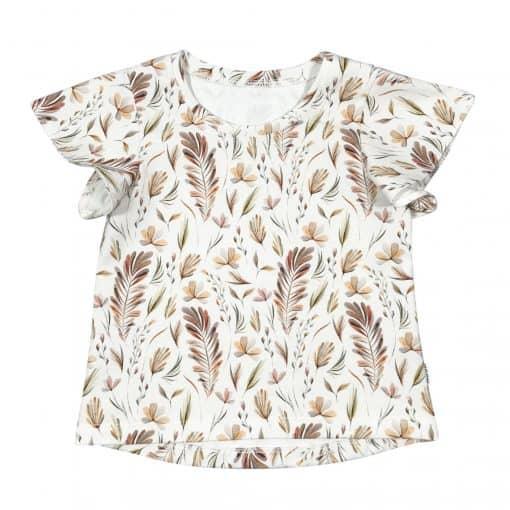 Vlindermouw Top Shirtje Handmade Bloemenprint Flutters