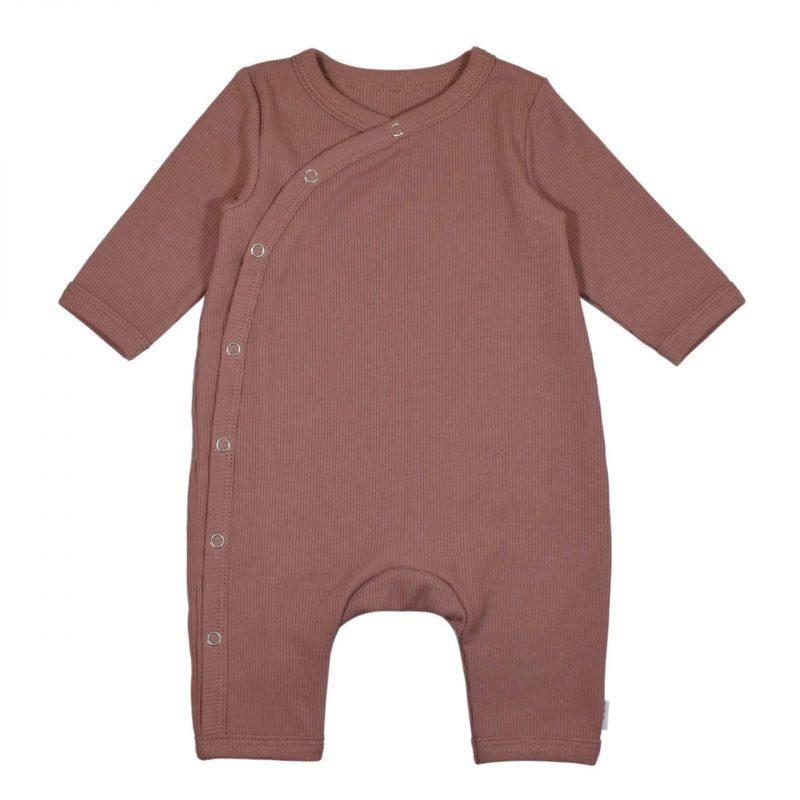 Boxpakje Klei Roze Handgemaakt Babypakje Newborn Meisje