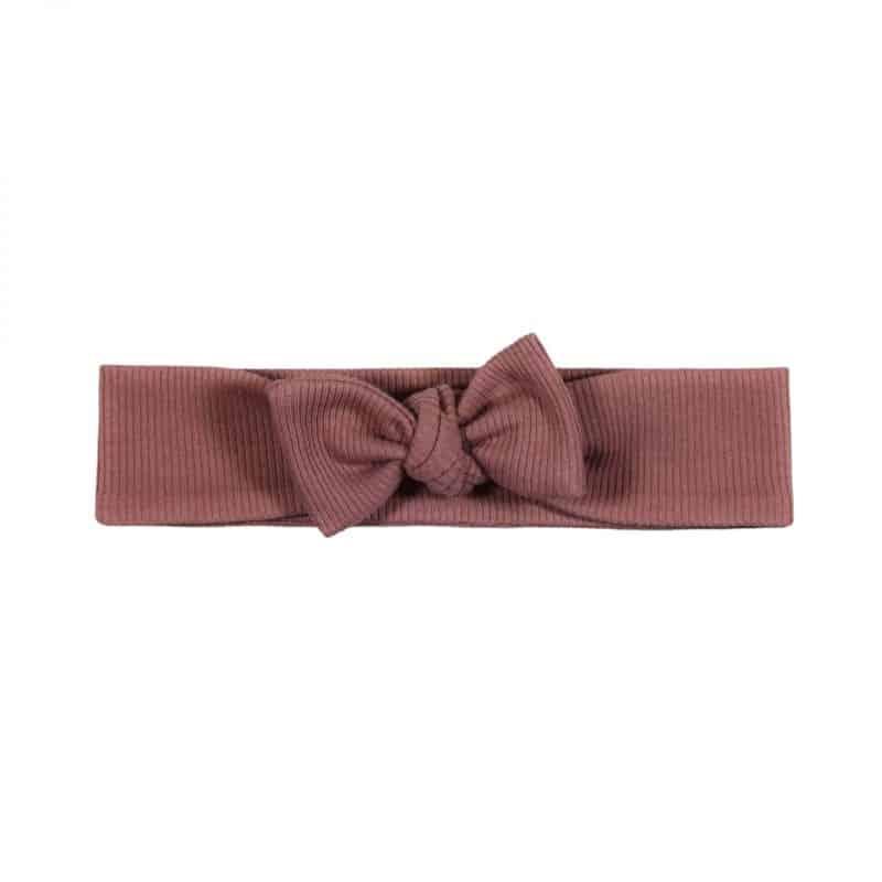 Haarbandje Rib Klei Roze Handmade Baby Hoofdbandje Knoopbandje