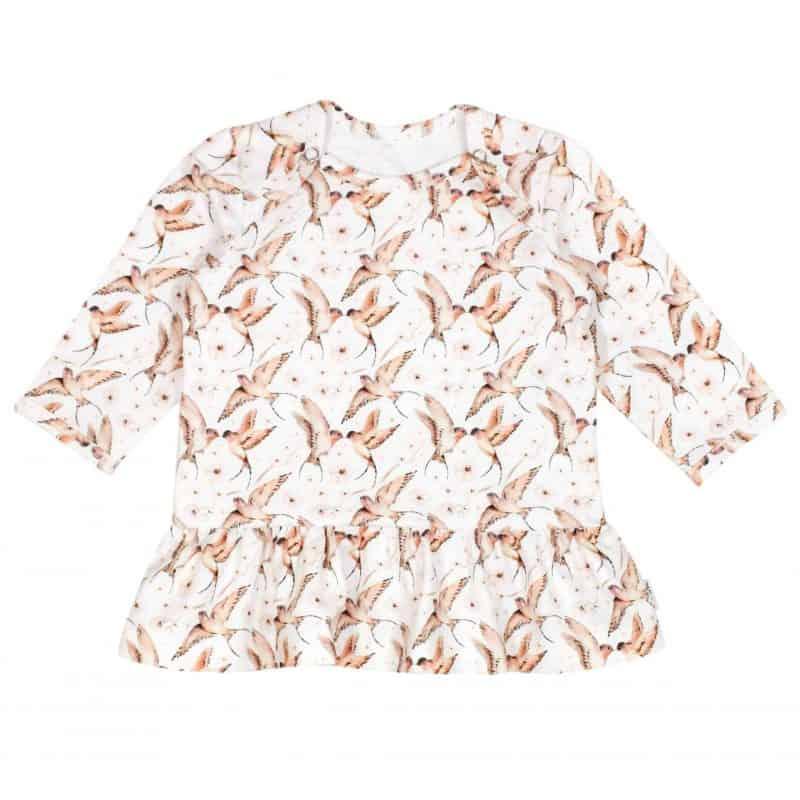 Jurkje Babyjurkje Zwaluwen Schattig handgemaakt Babykleding
